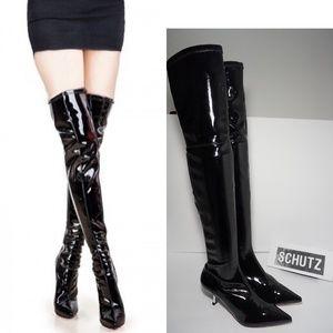 🆕SCHUTZ Waterproof Pointed Toe Over The Knee Boot